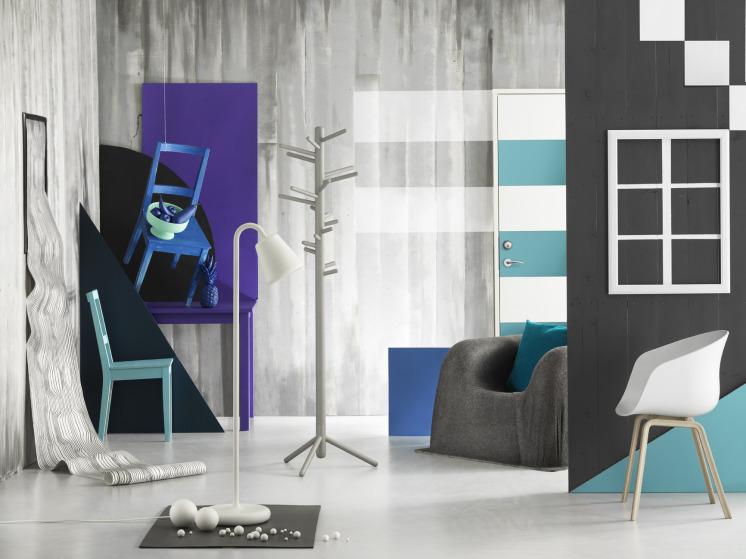 Inspiration : Splashes of Colour in White Interiors