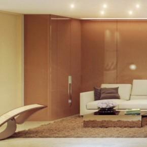 Brown Cream Living Room 665x327  Rendered Minimalist Spaces by Rafael Reis  Wallpaper 8