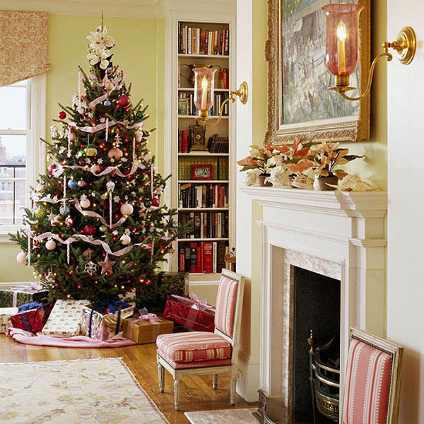 33 Best Christmas Country Living Room Decorating Ideas: Christmas Living Room 12 33 Christmas Decorations Ideas