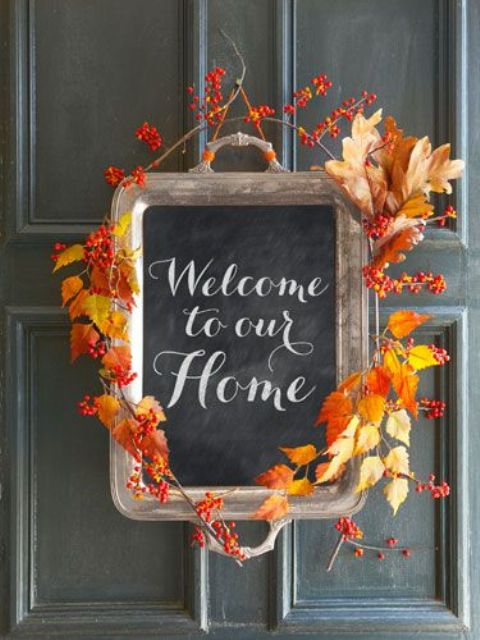20 Thanksgiving Home Door Decoration Ideas