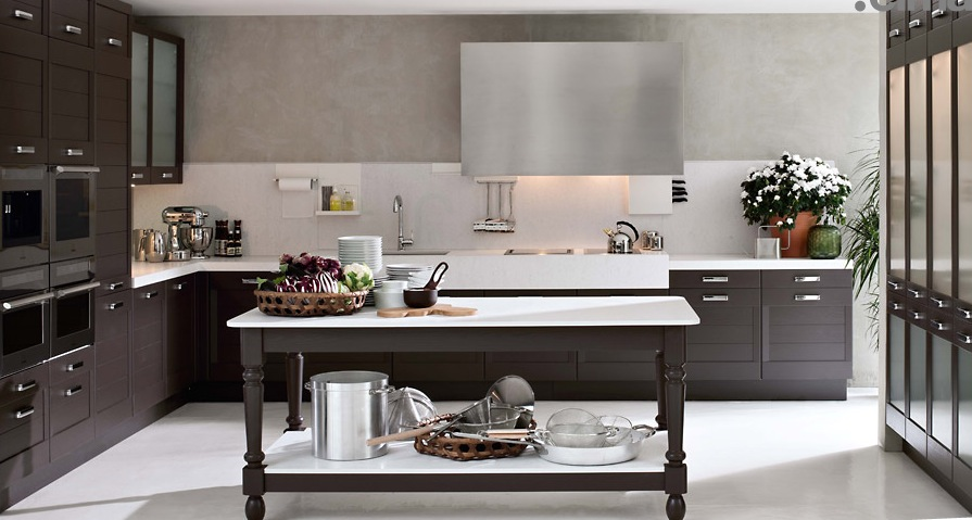 Dark wood classical kitchen modern kitchens from elmar cucine