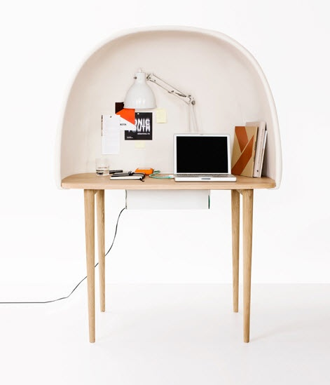 Egg Shaped Cubby  11 Modern Minimalist Computer Desks  Picture  13
