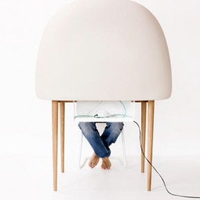 Egg Shaped Cubby Hiding  11 Modern Minimalist Computer Desks  Image  12