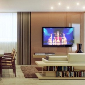 Hidden Storage Sofa Living Room 665x345  Rendered Minimalist Spaces by Rafael Reis Photo  7