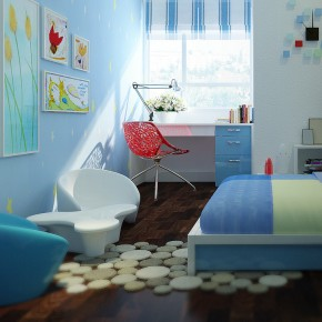 Kids Bedroom1  Warm and Cozy Rooms Rendered By Yim Lee  Pict  13