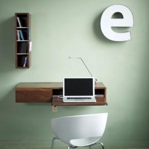 Ledge Design 582x445  11 Modern Minimalist Computer Desks  Pict  4