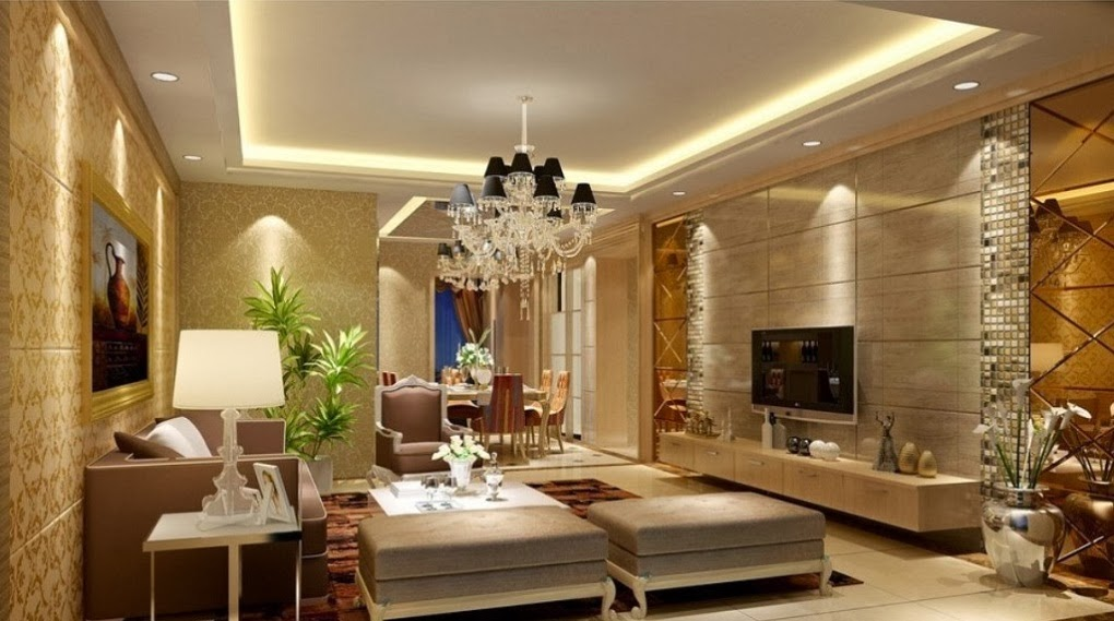 luxury-living-room-interior-with-pop-ceiling-and-sofa-sets ...