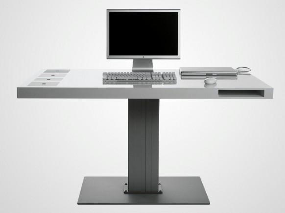 Milk Wireless Desk 582x434  11 Modern Minimalist Computer Desks  Pict  6