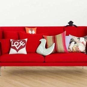 Red Modern Sofa Cushions 665x493  Beautiful Modern Style Sofas  Image  7