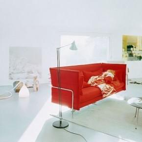 Red Modern Sofa White Living Room 665x305  Beautiful Modern Style Sofas  Wallpaper 6