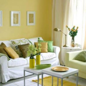 Soft Green And Yellow Living Room Design Lushome