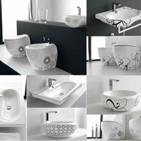 Unique Patterned Bathroom Suite  Unique Bathrooms by ArtCeram  Wallpaper 12