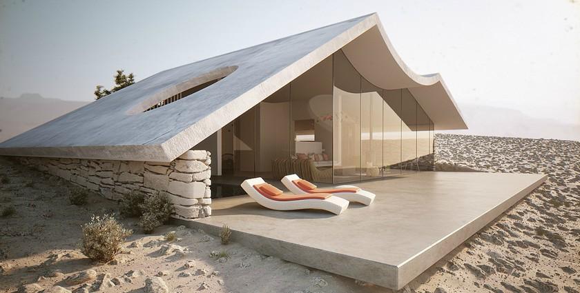 Simple Minimalist Desert Home