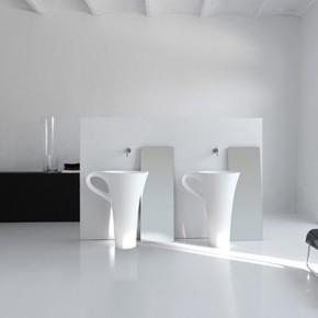 White Coffee Cup Basins  Unique Bathrooms by ArtCeram  Wallpaper 7