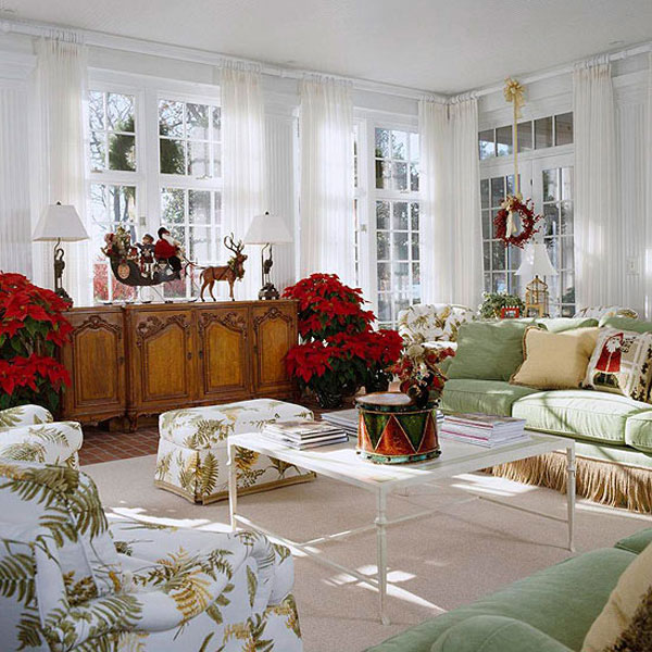 20 Ways To Decorate Your Living Room for Christmas