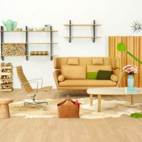 Yellow Brown Living Room Sofa Chair 665x493  Beautiful Modern Style Sofas  Image  2
