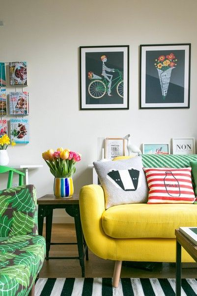 22 Colorful Living Room Ideas